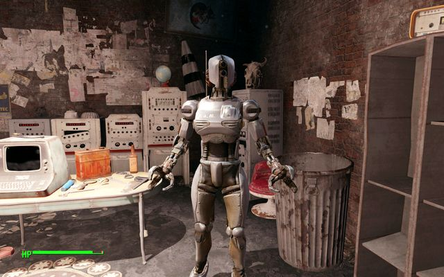 PAM robot in the Railroad HQ - Mercer Safehouse - Minor quests for Railroad faction - Fallout 4 Game Guide & Walkthrough