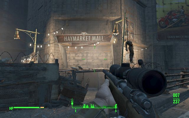Entrance to Haymarket Mall - Broken Monorail - Minor quests for Railroad faction - Fallout 4 Game Guide & Walkthrough