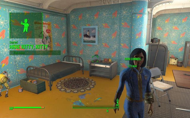 Erin Combes - Here Kitty, Kitty - Side quests in Vault 81 - Fallout 4 Game Guide & Walkthrough