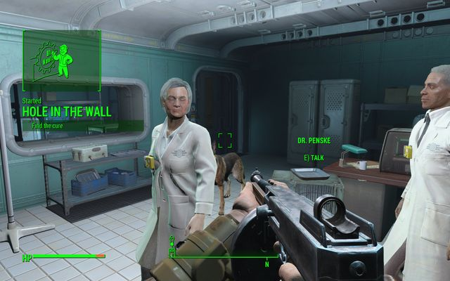 The healing facility in which you start the quest - Hole in the Wall - Side quests in Vault 81 - Fallout 4 Game Guide & Walkthrough
