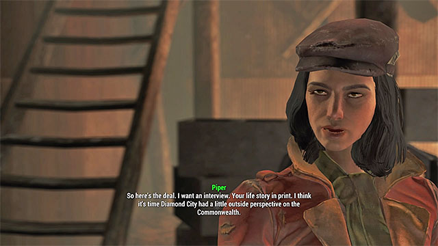 You can tell Piper your story - Story of the Century - Piper - Minor quests for Institute faction - Fallout 4 Game Guide & Walkthrough