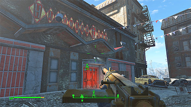 Few entrances lead to the hardware store - Painting the Town - Side quests in Diamond City - Fallout 4 Game Guide & Walkthrough