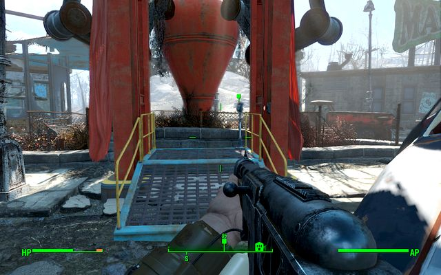 The elevator that leads to the tower where you will meet the Director - Report to the Director of the General Atomics Galleria (General Atomics Galleria) - Side quests in other locations - Fallout 4 Game Guide & Walkthrough