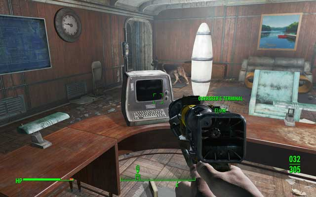 The overseers computer - the main objective of the quest. It will also open the door to the warehouse - Vault 75 (Malden Middle School) - Side quests in other locations - Fallout 4 Game Guide & Walkthrough