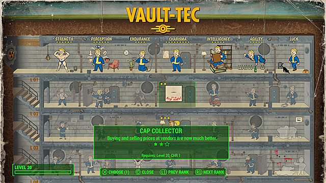 You should take interest in the Cap Collector perk - How to quickly gather large numbers of bottlecaps? - FAQ - Frequently asked questions - Fallout 4 Game Guide & Walkthrough