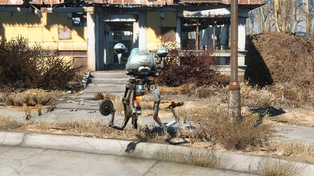 Codsworth is constantly roaming through the settlement, making it harder to find him. - Sanctuary (sector 1 location) - Sanctuary - Sector 1 - Fallout 4 Game Guide & Walkthrough