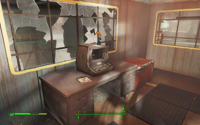 The bobblehead and magazine lying on the desk in the office - Longneck Lukowskis Cannery - Salem - Sector 3 - Fallout 4 Game Guide & Walkthrough