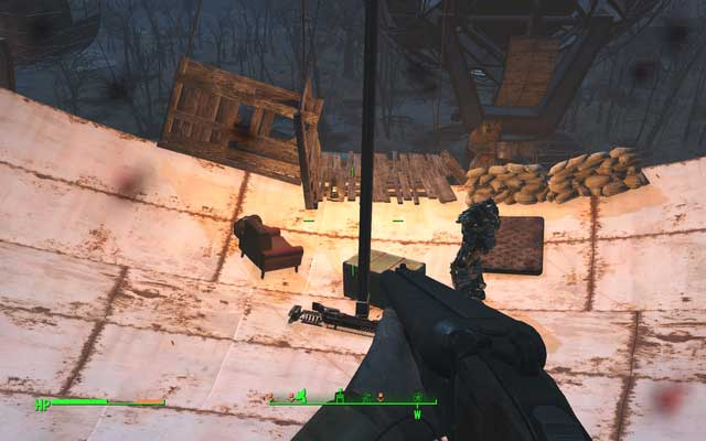 Fat Man and power armor frame on one of the dishes - Revere Satellite Array - Salem - Sector 3 - Fallout 4 Game Guide & Walkthrough