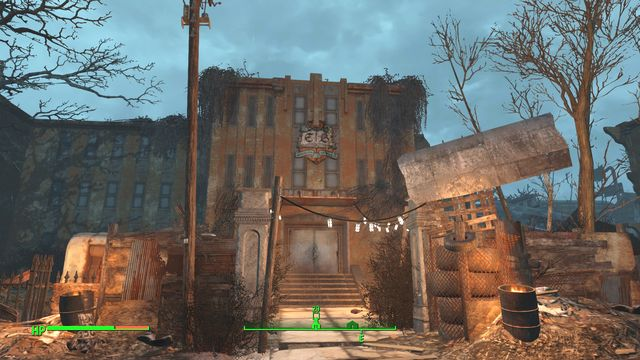 In the location you will find a ruined building of an old school - East Boston Preparatory School - The Castle - Sector 7 - Fallout 4 Game Guide & Walkthrough
