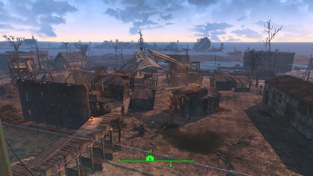 Easy City Downs is a large area that contains a racing track, buildings around it and few provisional constructions in the middle - Easy City Downs - The Castle - Sector 7 - Fallout 4 Game Guide & Walkthrough