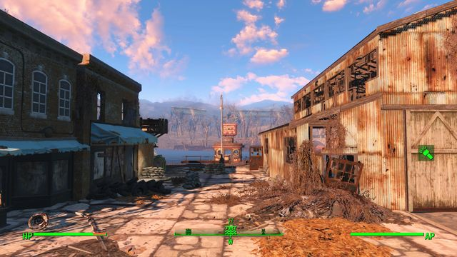 The marina consists of three small buildings at the riverside - Egret Tours Marina - Southern Boston - Sector 9 - Fallout 4 Game Guide & Walkthrough