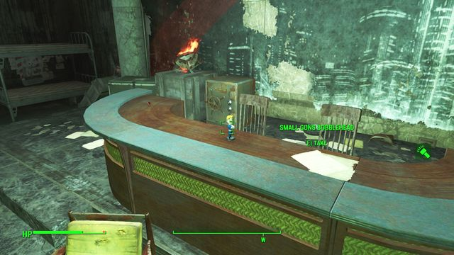 Inside, there are two opponents, including Captain Wes, a commander-in-chief of the Gunners - Gunners Plaza - Southern Boston - Sector 9 - Fallout 4 Game Guide & Walkthrough