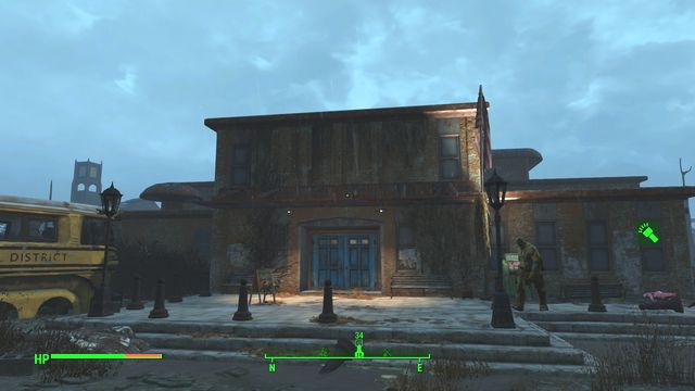 This location has been infested with ghouls and it is a big schoolhouse - Suffolk County Charter School - Southern Boston - Sector 9 - Fallout 4 Game Guide & Walkthrough