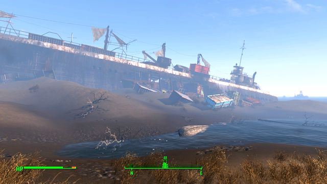 FMS Northern Star is a huge shipwreck occupied by gunners and mirelurks - Wreck of the FMS Northern Star - Southern Boston - Sector 9 - Fallout 4 Game Guide & Walkthrough