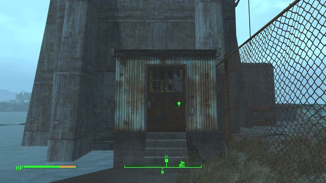 The pump that you need to fix is inside this extension. - Atom Cats Garage - Southern Boston - Sector 9 - Fallout 4 Game Guide & Walkthrough
