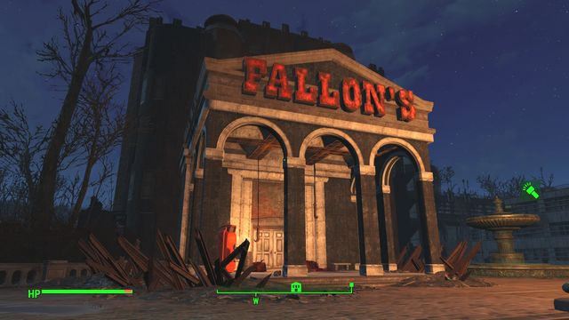 The building is a three-story department store that is being occupied by super mutants - Fallons Department Store - Southern Boston - Sector 9 - Fallout 4 Game Guide & Walkthrough