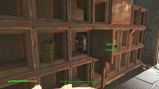 In one of the safes at the master level, there is a button that opens the hidden passage in the wall, which you can take to get deeper into the complex - University Point - Southern Boston - Sector 9 - Fallout 4 Game Guide & Walkthrough