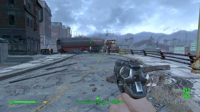 Go to the drug deal location. Dont attack the people there from far away as at first they arent considered as enemies - Diamond City Blues - Side quests in Diamond City - Fallout 4 Game Guide & Walkthrough