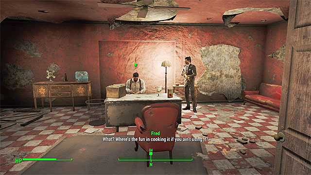 Marowski can be found on the ground floor of the Rexford Hotel - Diamond City Blues - Side quests in Diamond City - Fallout 4 Game Guide & Walkthrough