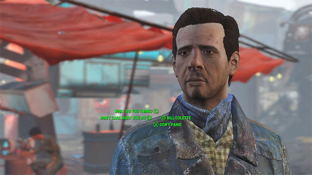 Paul can ask you to solve the problem with suspicious Colette - Diamond City Blues - Side quests in Diamond City - Fallout 4 Game Guide & Walkthrough