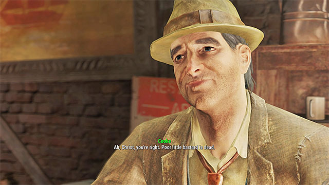 Cooke will reveal that Paul was murdered - Diamond City Blues - Side quests in Diamond City - Fallout 4 Game Guide & Walkthrough