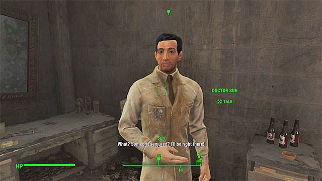 You can ask doctor Sun for help - In Sheeps Clothing - Side quests in Diamond City - Fallout 4 Game Guide & Walkthrough