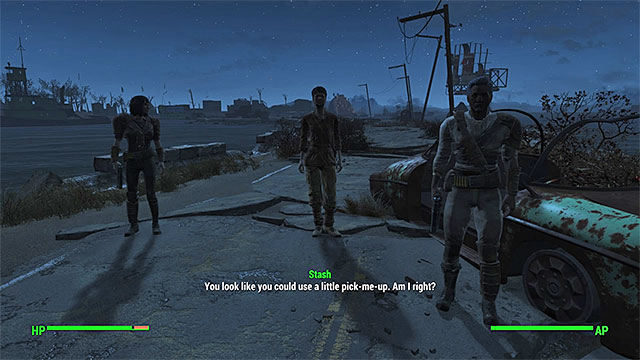 One of the random events can be about meeting a wandering merchant - World exploration - Basic Information - Fallout 4 Game Guide & Walkthrough