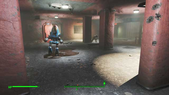 The police robot can make some noise once you activate it - The Big Dig - Side quests in Goodneighbor - Fallout 4 Game Guide & Walkthrough
