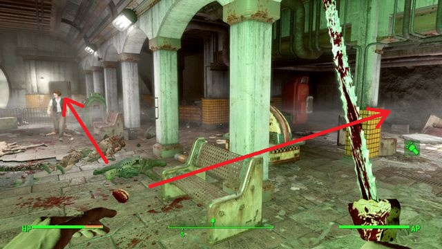 Two roads lead to the basement: straight next to the metro car or to the right - The Big Dig - Side quests in Goodneighbor - Fallout 4 Game Guide & Walkthrough