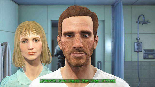 You can choose the gender and the appearance of your future character - Prologue - Main story - Fallout 4 Game Guide & Walkthrough