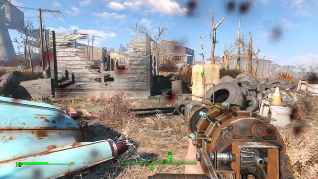 As you go South of University Point, or East of Jamaican Plain, at the roadside, there is a completely destroyed house - Kid in a Fridge (University Point) - Side quests in other locations - Fallout 4 Game Guide & Walkthrough