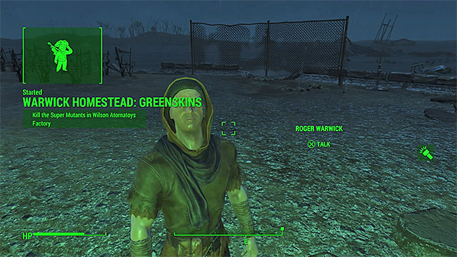 You can receive this quest, e.g. from a settler or a dweller of a homestead. - Greenskins - Minor quests for Minutemen faction - Fallout 4 Game Guide & Walkthrough