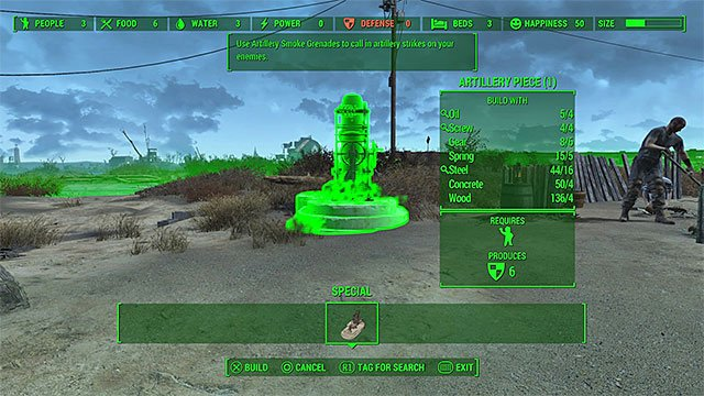 From the list of projects, select artillery station - With Our Powers Combined - Minor quests for Minutemen faction - Fallout 4 Game Guide & Walkthrough