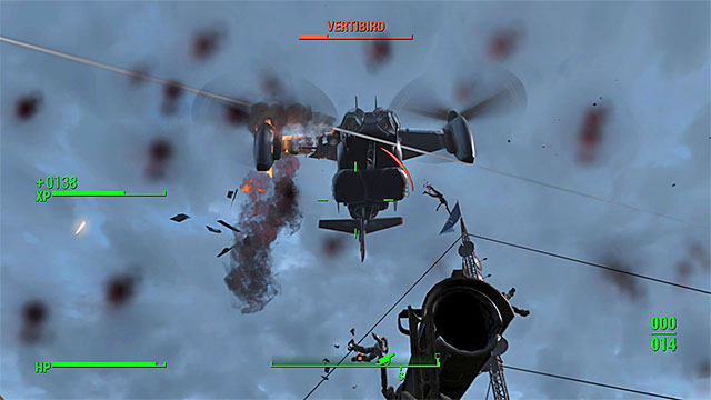 Use rocket launcher to shoot down Vertibirds - With Our Powers Combined - Minor quests for Minutemen faction - Fallout 4 Game Guide & Walkthrough