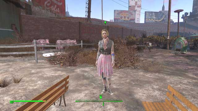 You are most likely to find Scarlett at the back of the town - Confidence Man - Side quests in Diamond City - Fallout 4 Game Guide & Walkthrough