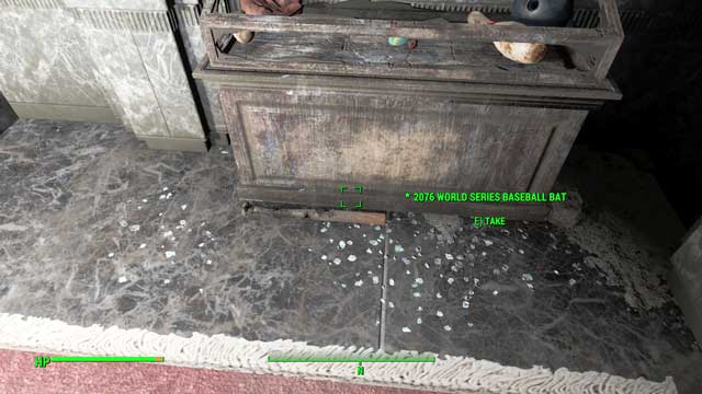 The baseball bat in the vault of Jamaican Plain - Smaller quests in Diamond City - Side quests in Diamond City - Fallout 4 Game Guide & Walkthrough