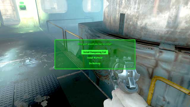 Install the Dampening Coil and then the Warhead - Here There Be Monsters (The Shamrock Taphouse) - Side quests in other locations - Fallout 4 Game Guide & Walkthrough