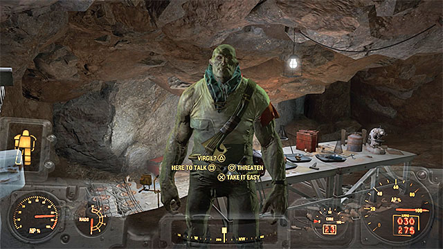 Virgil - Cure for Virgil (Rocky Cave) - Side quests in other locations - Fallout 4 Game Guide & Walkthrough
