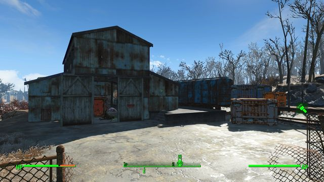 Boston Police Rationing Site is an abandoned building that you can access across the opened window - Boston Police Rationing Site - Center of Boston - Sector 6 - Fallout 4 Game Guide & Walkthrough