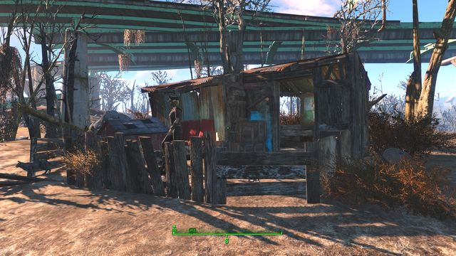 East from the pond you will meet a merchant with some ammunition, weapons and crafting materials - Walden Pond - Sanctuary - Sector 1 - Fallout 4 Game Guide & Walkthrough