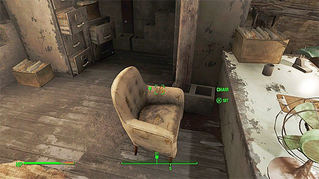 Sit in the chair before you start talking to Valentine - Getting A Clue - Main story - Fallout 4 Game Guide & Walkthrough