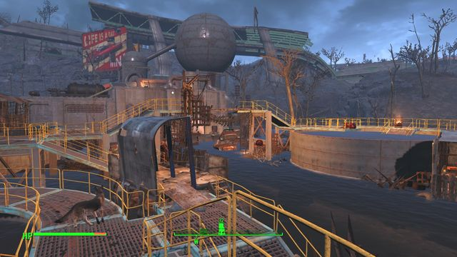 Weston Water Treatment Plant is a location that consists of a large area occupied by super mutants and a large building - Weston Water Treatment Plant - Fort Hagen - Sector 4 - Fallout 4 Game Guide & Walkthrough