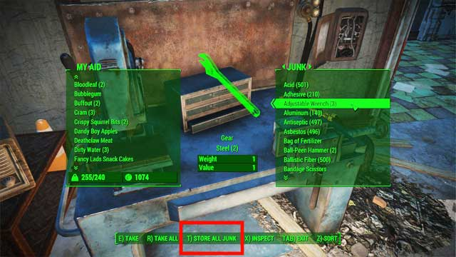Every structure that allows crafting can serve as workshop - including Power Armor workshops, a stove or armory table - Crafting - basics - Creating settlements - Fallout 4 Game Guide & Walkthrough