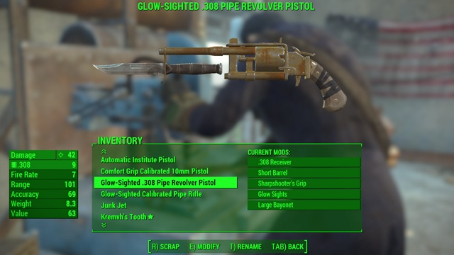 From here you can - Weapon upgrading - Weapons and Upgrades - Fallout 4 Game Guide & Walkthrough