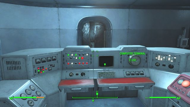 You will find the computer in the first room after teleporting. - Outside the Wire - Major Quests for Brotherhood of Steel faction - Fallout 4 Game Guide & Walkthrough