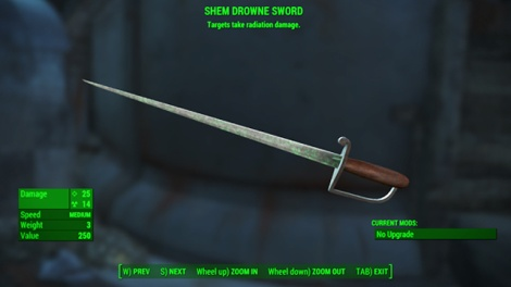 Type: Revolutionary sword - Melee weapons - Unique weapons - Fallout 4 Game Guide & Walkthrough