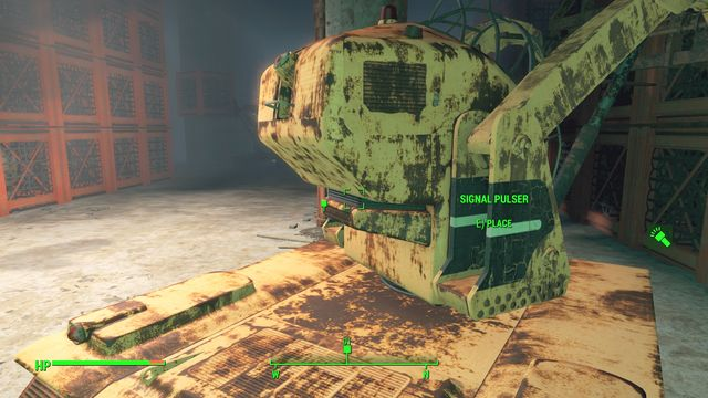 Place the signal pulser on the cart in the middle of the warehouse - Liberty Reprimed - Major Quests for Brotherhood of Steel faction - Fallout 4 Game Guide & Walkthrough