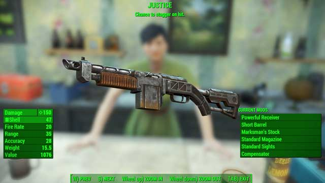 Type: Combat shotgun - Guns - light - Unique weapons - Fallout 4 Game Guide & Walkthrough