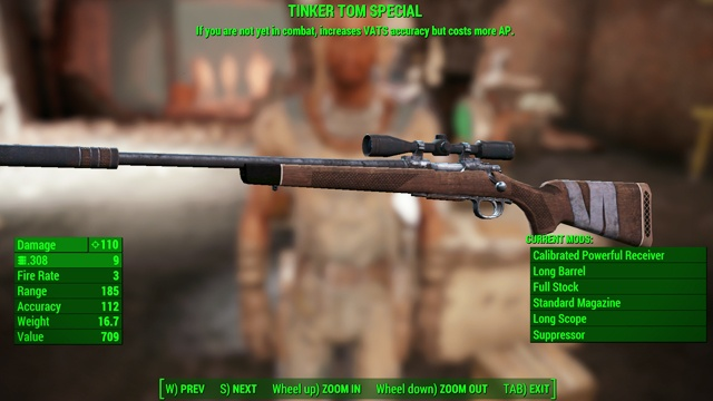 Type: Hunting rifle - Guns - light - Unique weapons - Fallout 4 Game Guide & Walkthrough