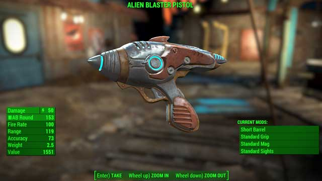 Type: Alien blaster pistol - Energy weapons - Unique weapons - Fallout 4 Game Guide & Walkthrough